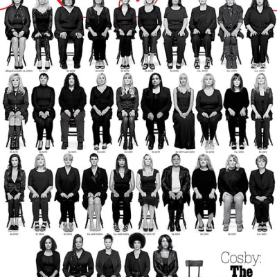 New York Magazine shows photographs of 35 of the 46 women whose sexual assault allegations agains...