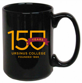 15 oz coffee mug with large handle for easy holding. Imported.