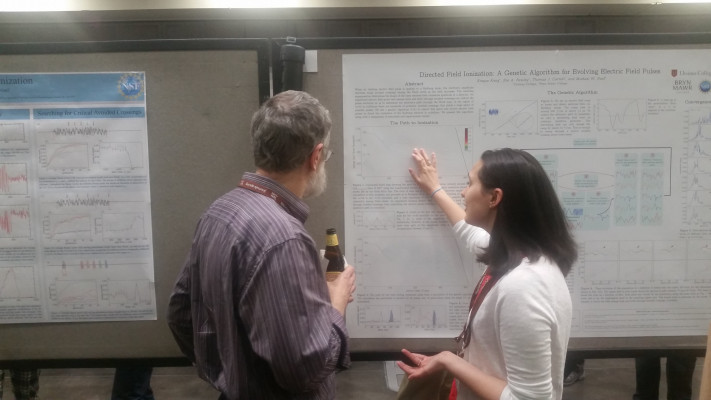 Zoe Rowley explains her research at DAMOP 2017 in Sacramento, CA.