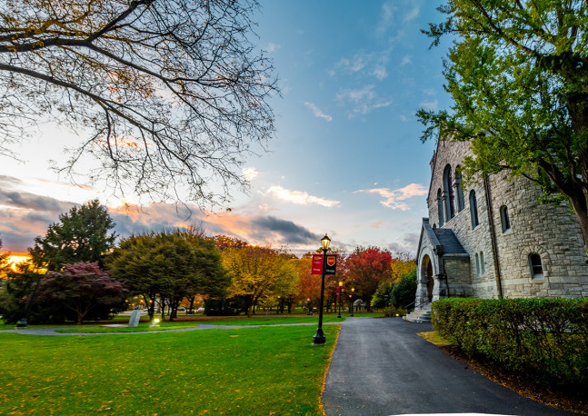 Beautiful Fall morning captured by Ben Allwein '18