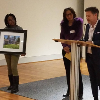 The event also honored Paulette Patton for her contributions. She was presented with a photo of U...