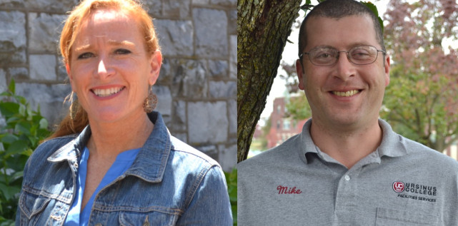 Erin Hovey '96 and Supervisor of Support Services Mike Twarogowski