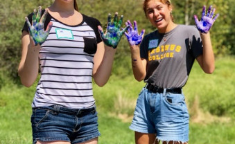 First year students helped at Sebastian Riding Center during Welcome Week Day of Service 2019