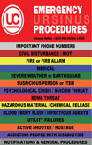 The cover of Ursinus College's Emergency Procedures handbook